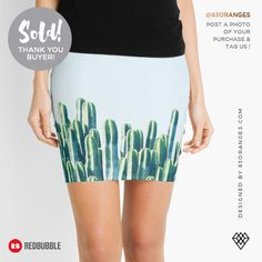 Just sold a Mini Skirt with my artwork titled 'Cactus V2'! Order yours or see all #redbubble products carrying this design here: http://www.redbubble.com/people/83oranges/works/18415753-cactus-v2-redbubble-home-lifestyle-buyart-decor?asc=u&p=pencil-skirt