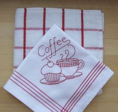 napkins or towels for coffee or tea time