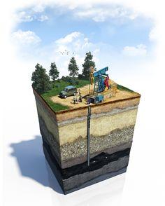 Oil, gas by 3Dima , via Behance