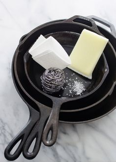 3 Ways to Clean a Cast Iron Skillet by Erica Kastner. Great post!