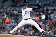 DETROIT - Anibal Sanchez struck out 17 in eight marvelous innings for Detroit, confounding the Atlanta Braves in a dazzling performance Friday night and leading the Tigers to a victory. Detroit Sports, Detroit Tigers Baseball, All About Tigers, Tiger Beat, Atlanta Braves, Handsome, April 26, Nails, Sports
