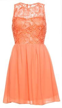 Peach Lace Bodice Dress from DailyLook