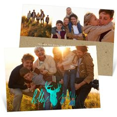 Your photo will shine on this card. #foil #ChristmasCards #holiday