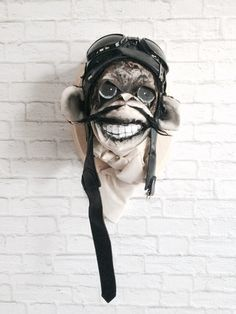 Milo Motorcycle Chimp Faux Taxidermy