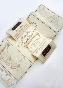 Fold-out wedding invitation
