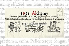 Check out 1651 Alchemy Family OTF by GLC Foundry on Creative Market (Fonts, Serif) Business Brochure, Business Card Logo, Business Flyer, Pirate Font, Pirate Theme, Alchemy Symbols, Small Caps, Single Words, Script Type