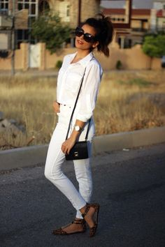 all white, fashion, style, beauty, what is fashion, GUESS, 90's throwback, white button up, casual style, leopard flats, garland just fab, cute style, affordable finds, hair ideas, makeup ideas, fashion trends 2014, summer 2014 trends, street style blogger, bloggers, best style, how to style, celling, cotton on, michael ors watch, zara bag, kurdistan, kurdish, girl, barzani, hawler, my style