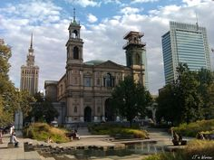 """Grzybowski #Square, center of #Jewish """"Little Ghetto"""" during #IIWW, now beautiful #city #park in #Warsaw.  #Poland #PKNiK"""