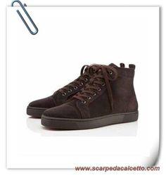 new style 0534e fd2de Louis Suede Chocolate Men Christian Louboutin Uomo scarpe da calcetto  migliori