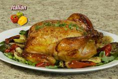 Итальянский опытный жареный цыпленок
