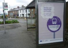 Bus stop advert in location
