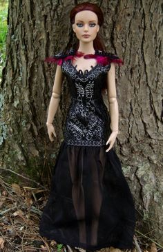 """Katniss Everdeen Victory Tour Party Dress for Tonner Dolls from """"The Hunger Games: Catching Fire"""" - by Morgan May @ Stardust Dolls - http://www.stardustdolls.com"""