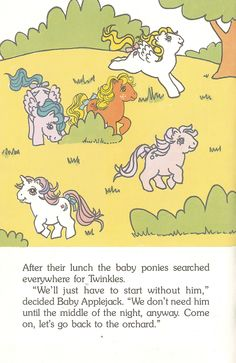 A Problem for the Baby Ponies World International Publishing - 1986