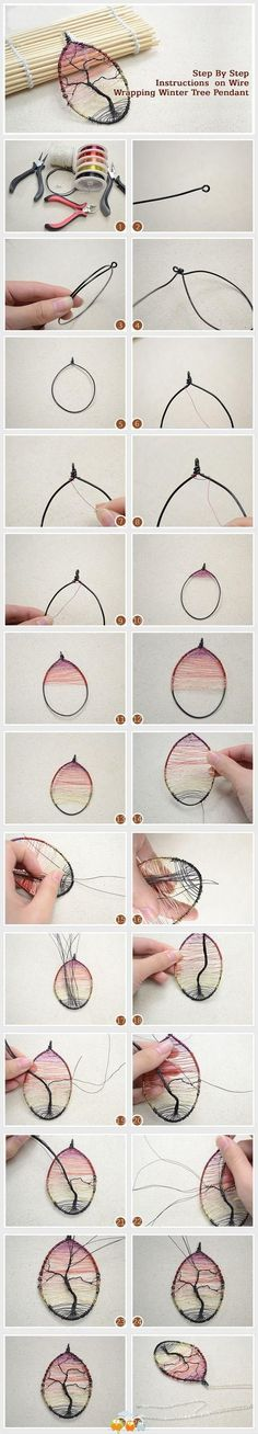 DIY Tutorial DIY Jewelry / Step By Step Instructions on Wire Wrapping Winter Tree Pendant - Bead&Cord