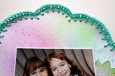 scrapbook and crochet border