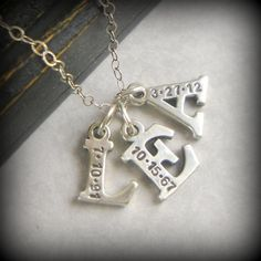 Mom Mommy Initial Necklace 3 Initials New by YouCanQuoteMeOnThat, $80.00