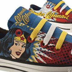 Wonder Woman Converse. I need these in my life!