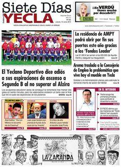 Por cierto ¿sabías qué ya esta disponible la portada del periodico Siete dias Yecla  ? ( Siete Dias Siete Dias )
