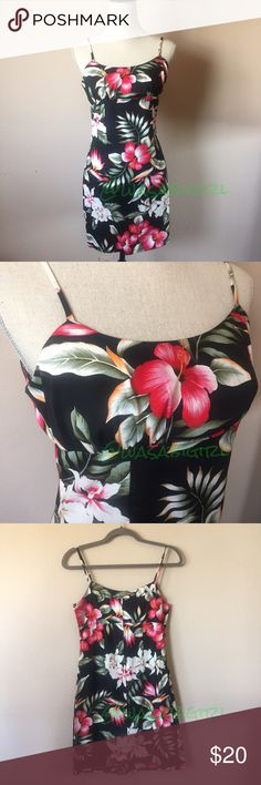 """Beautiful Hawaiian Sun Dress Striking colors. Never worn. Back zip. Princess Sean's for form fitting fit. 100% cotton. Unlined. Almost no stretch so please take measurements into account. Armpit to armpit across about 15.5"""" unstretched. Waist across about 14"""". SIZE SMALL LISTING ON TAG. Fits like an XXS/XS. No trades. KY's International Fashion Dresses"""