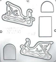 Sleigh Assembly Small Chocolate Candy Mold Christmas 2147 $2.40  CandyMoldsNMore Via Etsy. Have quite a few to choose from--the standard plastic ones. Over priced?