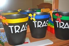 trash cans for every table (or group of desks) in your classroom so the kiddos aren't constantly getting up to throw things away