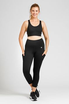 Flow Crop - Black – Active Truth™ Workout Session, Summer Wardrobe, Perfect Fit, Flow, Tights, How Are You Feeling, Sporty, Pockets, Crop Tops