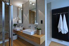 Family house in Újezd nad lesy Bathroom Inspiration, Bathroom Lighting, Vanity, Mirror, Furniture, Arch, Home Decor, Full Bath, Bathing