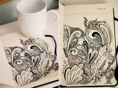 Doodling in Thought... by joany., via Flickr