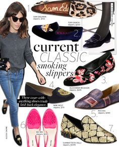 Current Classic: Smoking Slippers - Celebrity Style and Fashion from WhoWhatWear - low fuss fashion is what I like