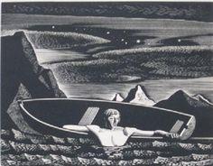 From Keith Sheridan, LLC, Rockwell Kent, Deep Water Wood engraving, 5 × 6 in Op Art, Linocut Prints, Art Prints, Block Prints, Rockwell Kent, Scratchboard, Wood Engraving, Woodblock Print, American Artists