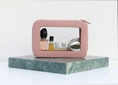 Our clear cosmetic bag is designed to hold all your travel-size liquids, make-up and other travel beauty essentials, especially when you travel with carry-on only. This makeup bag also provides a reusable alternative to the single use tsa liquid bag and gets you through airport security hassle-free. Travel in style with this must-have travel essential.