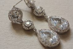 Bridal jewelry - earrings Angela (ready to ship) from MillieIcaro