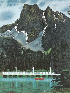 Mount Burgess and Emerald Lake Tom Thomson, Emily Carr, Mountain Illustration, Group Of Seven, Emerald Lake, Cool Backgrounds, Canadian Artists, Landscape Paintings, Canada