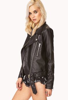 Iconic Quilted Moto Jacket | FOREVER21