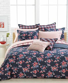 Tommy Hilfiger Rustic Floral Comforter and Duvet Cover Sets - Macys. Dorm bedding? :)