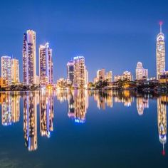 Just love the reflections in this beautiful Surfers Paradise Qld photo.