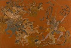 National Gallery Modern Art, Delhi.  Abhimanue Badh (1946 - 1947)    Nandalal Bose