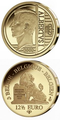Country: Belgium Mintage year: 2009 Face value: euro Diameter: mm Weight: g Alloy: Gold Quality: Proof Mintage: pc proof Bullion Coins, Gold Bullion, Piece Euro, Foreign Coins, Painting Words, All Currency, Gold Money, Gold And Silver Coins, Commemorative Coins