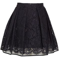 MSGM Flared lace mini skirt found on Polyvore