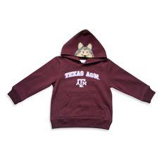 Mascot Pullover Hooded Sweatshirt - Texas A University