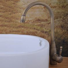 fini antique en laiton lavabo robinet (hauteur)