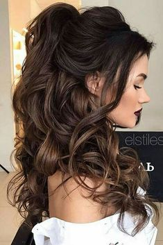 Wedding Hairstyles Half Up Down Pretty Bridesmaid For Long Hair See More Lovehairstyles