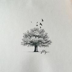 Tree design for Danny :) - #타투 #그라피투 #타투이스트리버 #디자인 #그림 #디자인 #아트 #일러스트 #tattoo #graffittoo #tattooistRiver #design #painting #drawing #art #Korea #KoreaTattoo #tree #bird #나무 #새타투