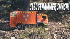 SMASH The Broken TRASH TRUCK With A SLEDGEHAMMER #garbagetrucksrule