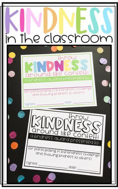 Spreading Kindness in the Classroom with Classroom Kindness Challenges! Students complete a kindness challenge and get to celebrate being kind! Great for the 100th Day of School, Valentine's Day, or anytime!