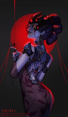 Black Lily Widowmaker - by dNiseb - on DeviantArt