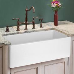 Image detail for -30 Italian Fireclay Farmhouse Kitchen Sink - White At ...