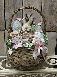 5pc Religious Easter MINI Charm Set Lot Collection // Cross Rabbit Basket Egg