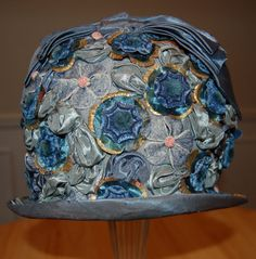 Absolutely Gorgeous 20s / 1920s Blue Silk Taffeta by Maudelynn