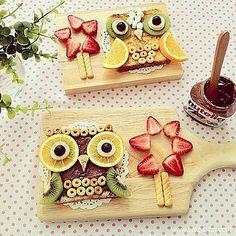 Owl ~ Food Art